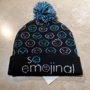 Capelli Black So Emojinal Stocking Hat Beanie M/L